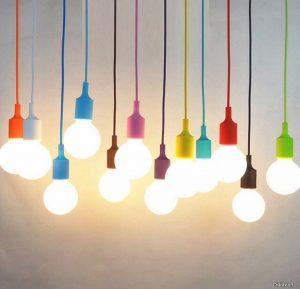 dây đèn nhiều màu